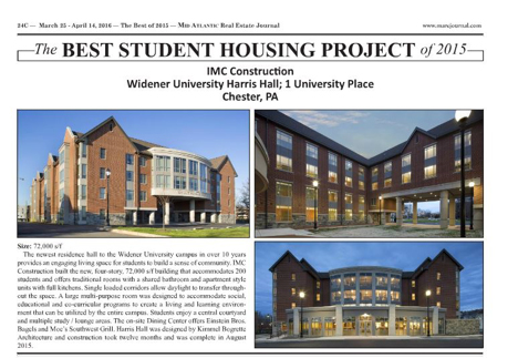 Best Student Housing Project in 2015